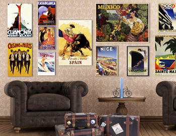 Travel Posters & Vintage Chic Decor
