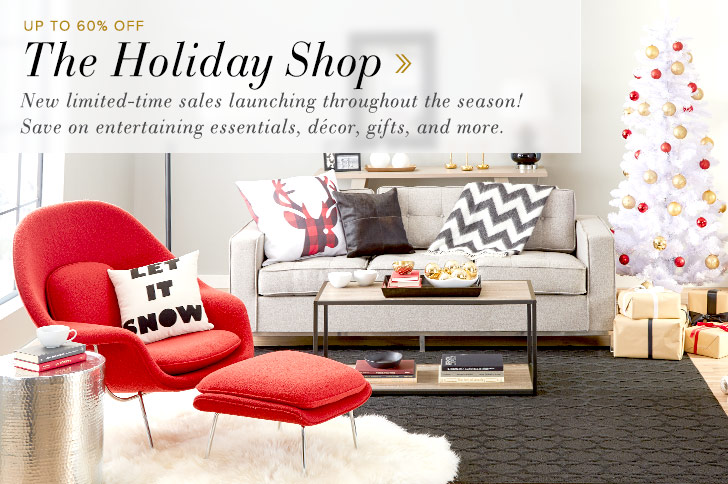 The Holiday Shop - New limited-time sales launching throughout the season! Save on entertaining essentials, decor, gifts, and more