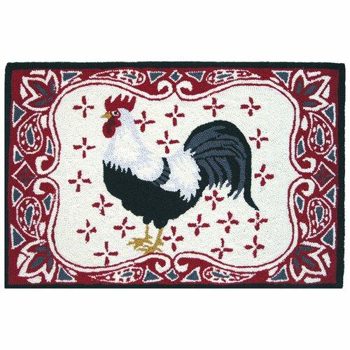 Bandana Barnyard Rooster Area Rug